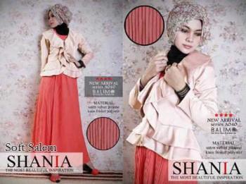 baju muslimah untuk ke pesta pernikahan  BALIMO SHANIA Soft Salem