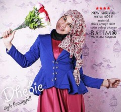 baju muslim fashion  Balimo Dhebie Dark blue Pink