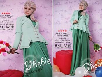 baju muslim fashion terbaru  Balimo Dhebie Green