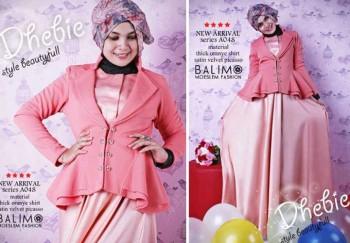 busana muslim fashion  Balimo Dhebie Light Orange