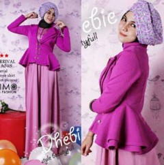 busana muslim fashion grosir  Balimo Dhebie Purple