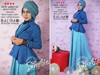 busana muslim fashion terbaru  Balimo Dhebie Turkish
