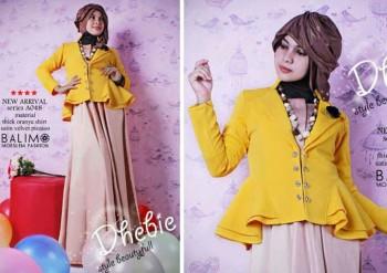baju muslimah fesyen terkini  Balimo Dhebie Yellow