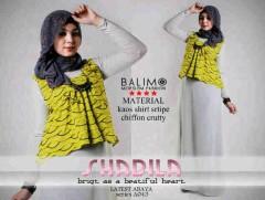 baju muslim gaya baru  Balimo Shabila Hijau Pupus