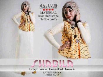 baju muslim hijab Balimo Shabila Yellow
