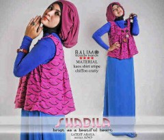 model baju muslimah yang lagi trend  Balimo Shabila  magenta