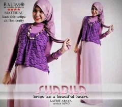baju muslim hijaber  Balimo Shabila purple