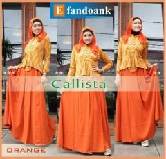 baju muslim anak perempuan  Callista By Efandoank Orange