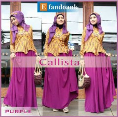 sale baju muslim Callista By Efandoank Purple