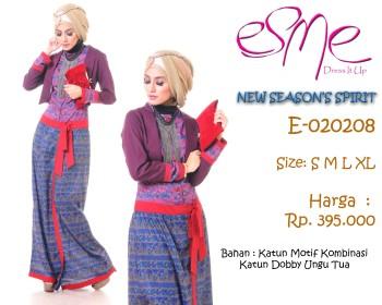 gamis wanita muslimah E-020208