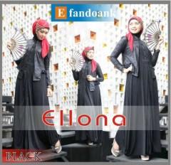 baju muslim terbaru 2014  ELLONA by Efan Doank Black