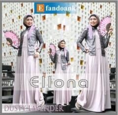 baju muslimah modern  ELLONA by Efan Doank Dusty Lavender