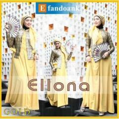 baju muslimah online shop  ELLONA by Efan Doank Gold