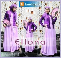 baju muslim atasan terbaru  baju muslim branded terbaru  ELLONA by Efan Doank Purple