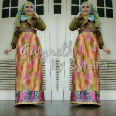 baju muslim pesta wanita  Gwyneth Kuning