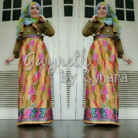 Gwyneth 2 By Kynara Kuning Baju Muslim Gamis Modern