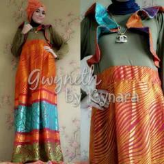 baju muslimah pesta  Gwyneth Orange