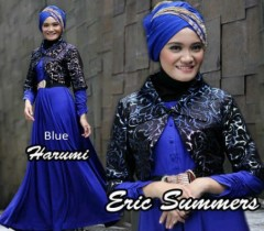 baju muslim modis  HARUMI by Eric Summer Blue