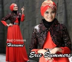 busana muslim bagus  HARUMI by Eric Summer Red Crimson