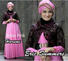 baju muslimah anak muda  HARUMI by Eric Summer baby Pink