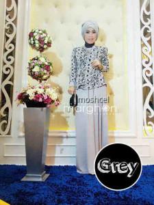 baju muslim simple elegan  Moschel Grey