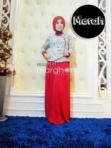 baju muslim elegan online  Moschel Merah