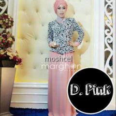 baju muslim dress panjang  Moschel Pink