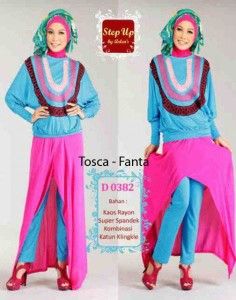 baju muslim elegan wanita  STEP UP Lisha Tosca-Fanta
