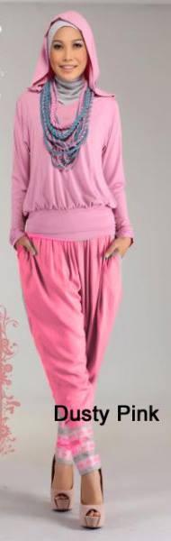 baju muslim branded grosir  STEP UP STREACH Dusty Pink