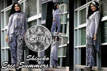 baju muslim pesta terbaru  Shigeko By Ericsummer Grey