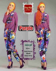 busana muslim fashion grosir  Step Up KAFIAH purple
