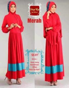 baju muslim elegan  Step Up SYARIFAH Merah