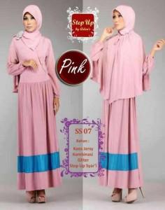 baju muslim wanita yang lagi trend  Step Up SYARIFAH Pink