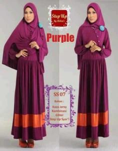 baju muslim gaya terbaru  Step Up SYARIFAH Purple