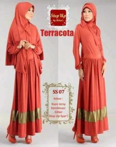 baju muslim gaya  Step Up SYARIFAH Teracota