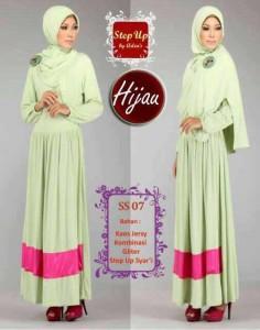 baju muslimah pesta Step Up SYARIFAH hijau