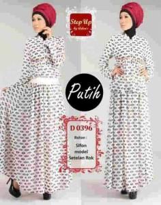 busana muslim elegan  Step Up Sakura Putih