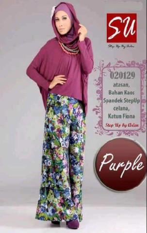 busana muslim elegan  Step up HAMIDAH Purple