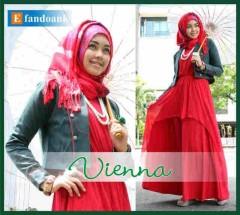 baju muslimah modern  Vienna 2 by Efan doank Black Red