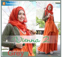baju muslim modern  Vienna 2 by Efan doank Grey