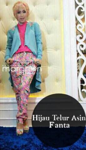 baju muslim elegan wanita  ZEEGA by Marghon Hijau Telur Asin Fanta