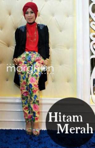 baju muslim elegan  ZEEGA by Marghon Hitam Merah