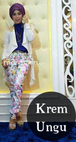 baju muslim elegan online  ZEEGA by Marghon Kreem Ungu