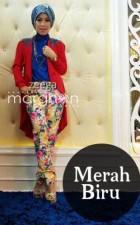 baju muslim elegan online  ZEEGA by Marghon Merah biru