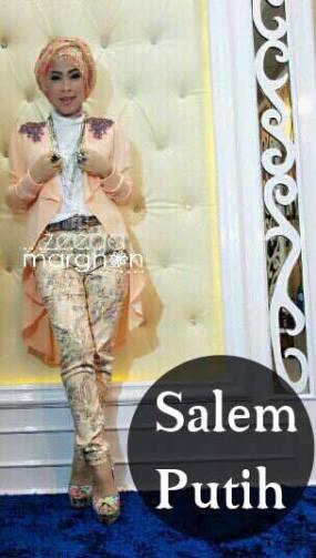 baju muslim fashion  ZEEGA by Marghon Salem Putih