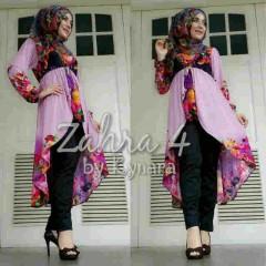 gamis wanita muslimah Zahra 4 by Kynara Pink