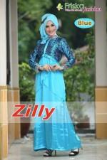 busana gamis wanita Zilly by Friska Blue
