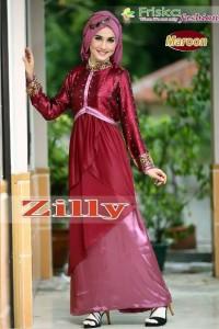 busana hijabers terbaru Zilly Maroon