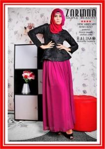 baju muslimah online shop  Balimo Zarinna Black Magenta