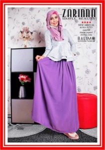 baju muslimah online Balimo Zarinna Grey Lavender